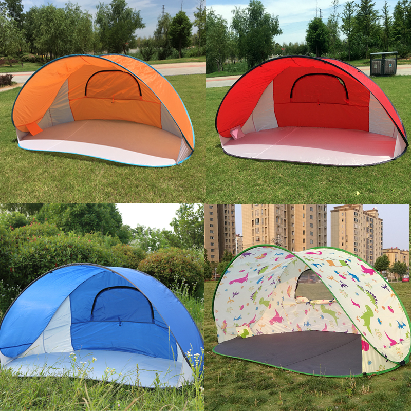 3-4 Person Fast Open Tent, Automatic Opening Tent Outdoor Beach, 2.2mx1.2m ground ,1.3kg Quick Open Tent 4 season Camping Tent big sale maternity pregnant women photography props white soft beautiful dress elegant photo shoot baby shower romatic