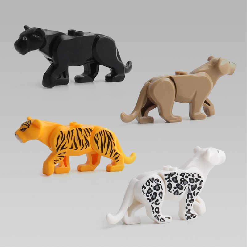 Duplos Modello Animale Figure Grande Building Block Set Coccodrillo Leopardo Squalo Bambini Giocattoli Educativi per I Bambini Brinquedos Regalo