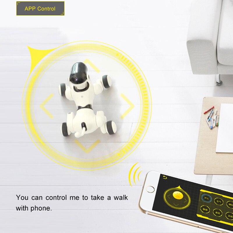 Robot chien voix et App contrôlé Robot AI chien jouets interactifs danses chante joue musique tactile jouets de contrôle de mouvement pour les enfants - 4