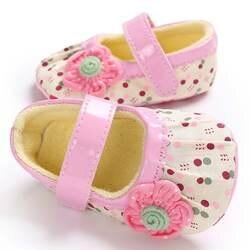 Обувь для новорожденных девочек, мягкая хлопковая обувь принцессы с цветами для малышей, нескользящая подошва для маленьких детей