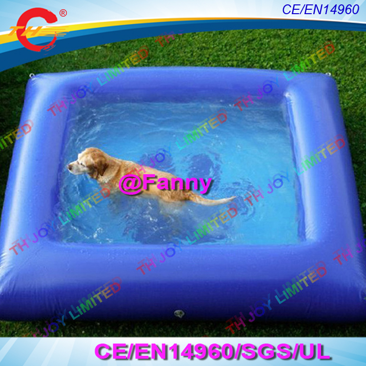 US $250.0 |free air shipping to door,3x3m/10x10ft square inflatable dog  pool,swimming pools for dog,inflatable pools for dog swimming-in Inflatable  ...