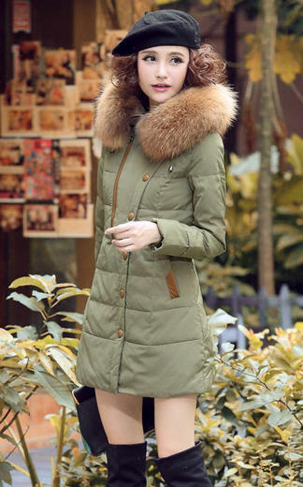 2014 winter women thick long slimming down parkas Korean zipper big fur collar overcoats patchwork solid female coats E525 2014 new winter fur turn down collar white duck down parkas women zipper hooded solid long coats female slimming down s xxl e819