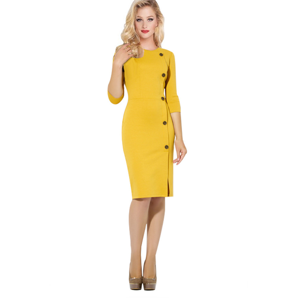 2017 new woman autumn winter dress elegant plus size dress sexy pencil dress formal work office wear casual dress vestidos