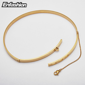 Image 5 - Enfashion سلسلة أمان المختنقون القلائد المعلقات الذهب قلادة ملونة الفولاذ المقاوم للصدأ المختنق قلادة للنساء مجوهرات كولير