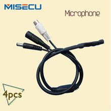 CCTV Microphone Wide Range Audio MIC Mini Microphone with DC output voice pick up device for CCTV Security DVR 4pcs