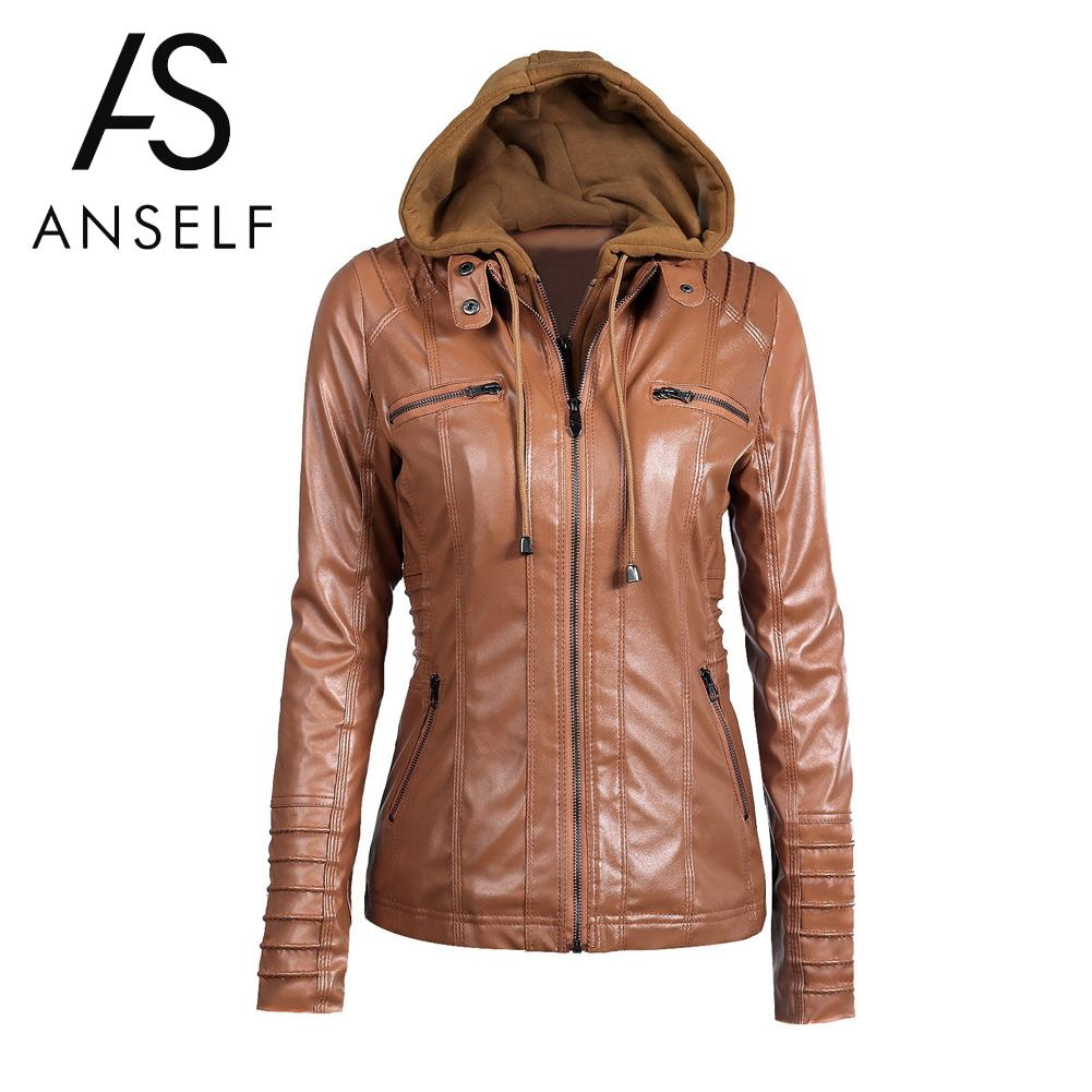 Compare Prices on Womens Black Leather Hooded Jacket- Online ...