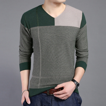 The New Spring 2015 Men's Fashion High-Grade Splicing Sweater Men Men's Casual Brand Mens Sweaters And Pullovers