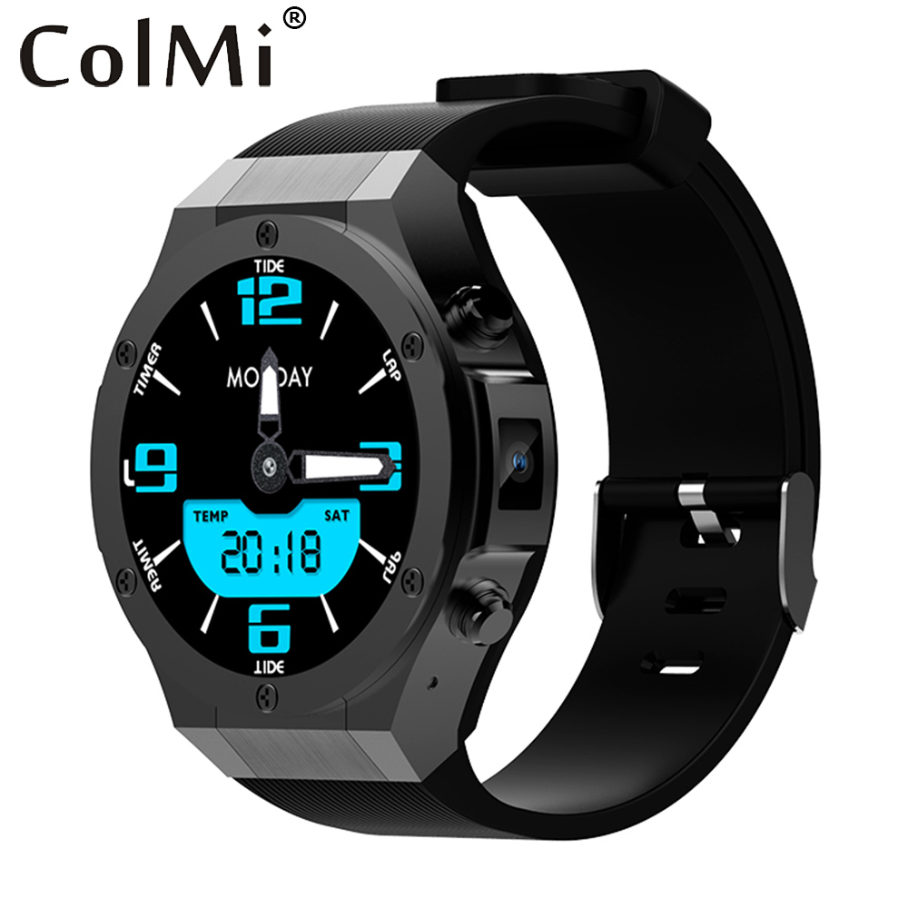 ColMi H2 MTK6580 Android 5.1 ROM 16G RAM 1G Bluetooth Smart Watch Support Wifi GPS 5M Camera Heart Rate for IOS Android hot z01 bluetooth android 5 1 smart watch 512m ram 4g rom wifi gps sim camera gps heart rate monitor wristwatch for ios android