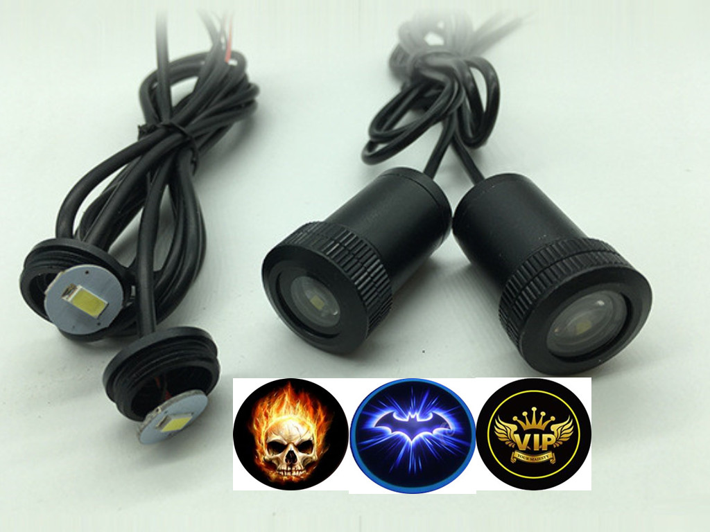 2 pcs12V LED Car Door Ghost emblem Logo Light welcome Lamp Auto Laser Projector Light All Car for BMW VW Mazda Opel Nissan Lada goorin bros goorin bros 603 0005 oli