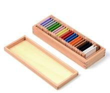 Uus puidust beebi mänguasja Montessori puit 7.3cm värvi tahvelarvuti varajane lapsepõlv Koolieelsed koolitused Lapsed mänguasjad Beebi kingitused