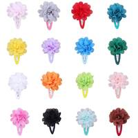 Baby hair solid Chiffon Flower clips Newborn baby Mini Hair Clips  BB Hair Clip Hair Accessories Kids Hair Barrettes girls clips