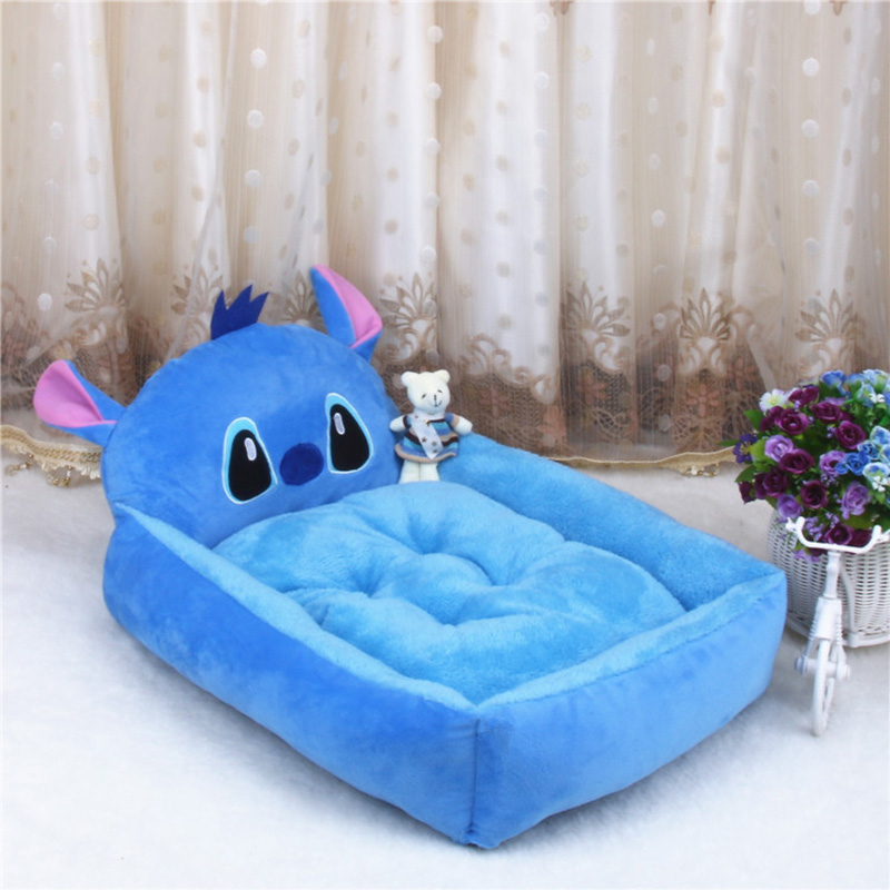 Cute Pet Dog Bed Mats Animal Cartoon Shaped Pet Sofa Kennels Pp Cotton Warm Cat House Dog Pad Teddy Mats Big Blanket Supplies