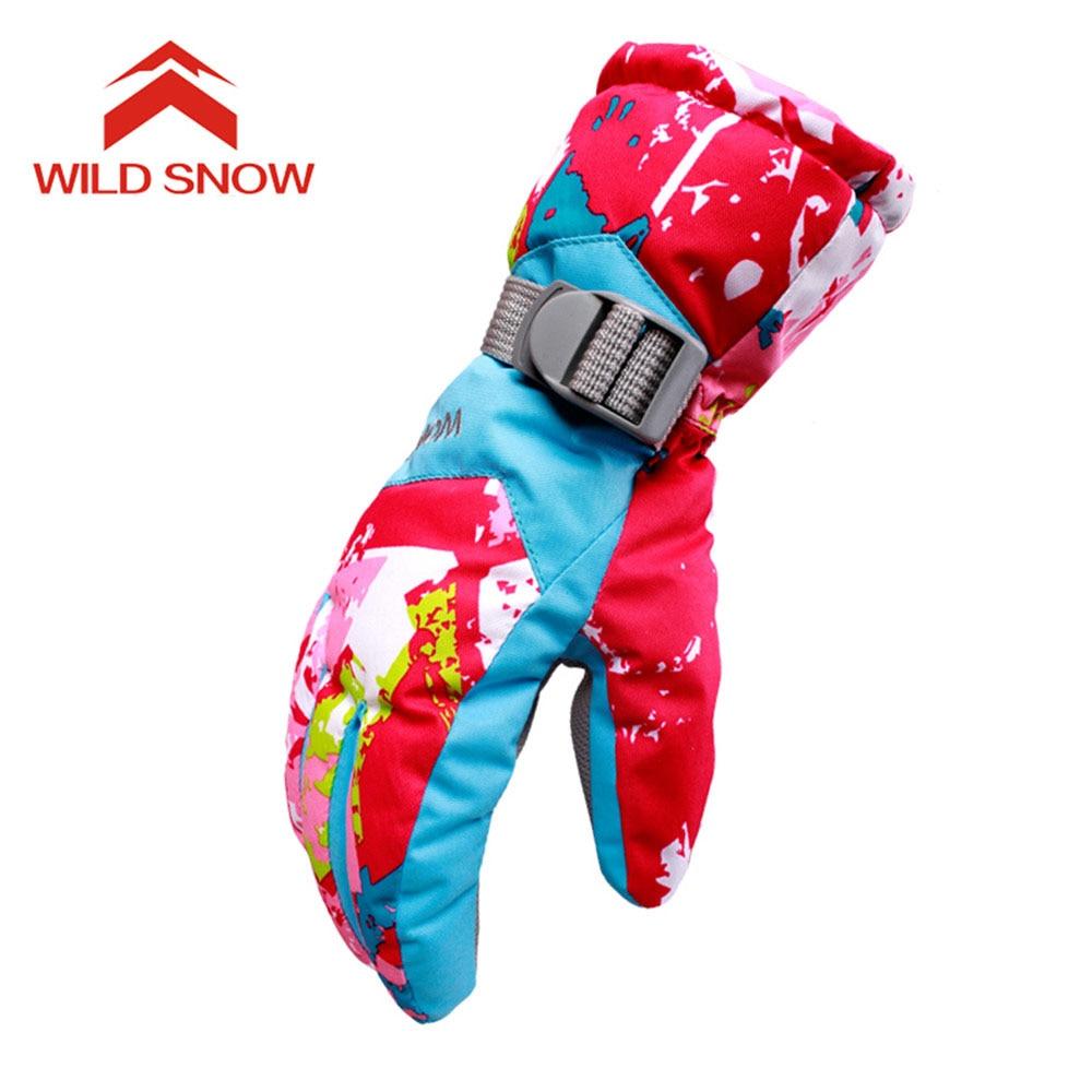 2017 WildSnow Women Skiing Gloves Snowboard Waterproof Snowmobile Motorcycle Men Ski Gloves Windproof Warm Snow Gloves PYG823