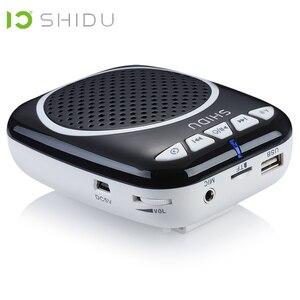 Image 2 - Портативный голосовой усилитель SHIDU, Мегафон, мини аудио колонка с микрофоном, перезаряжаемый Сверхлегкий Громкий динамик для учителя 308