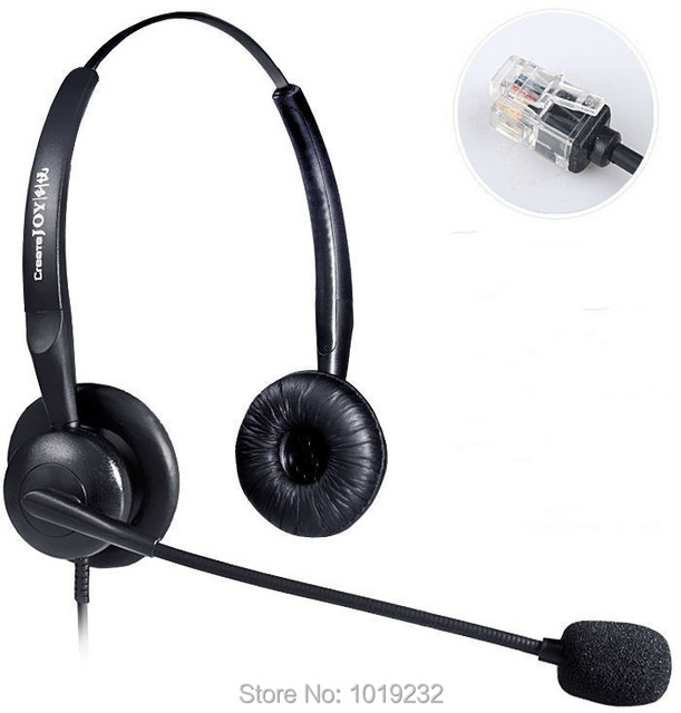 US $24 76 20% OFF|Office headset with microphone ONLY For AVAYA 1600 9600  series ,Yealink, Snom ,Grandstream GXP1200 Phones,etc-in Headphone/Headset