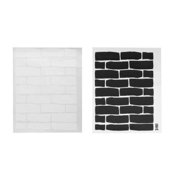 Black White Brick Wall Stickers   1