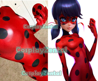 Hot Sale Ladybug Costume Quality 3D Print Ladybug Cosplay Costume Spandex Woman Zenati Bodysuit for Halloween