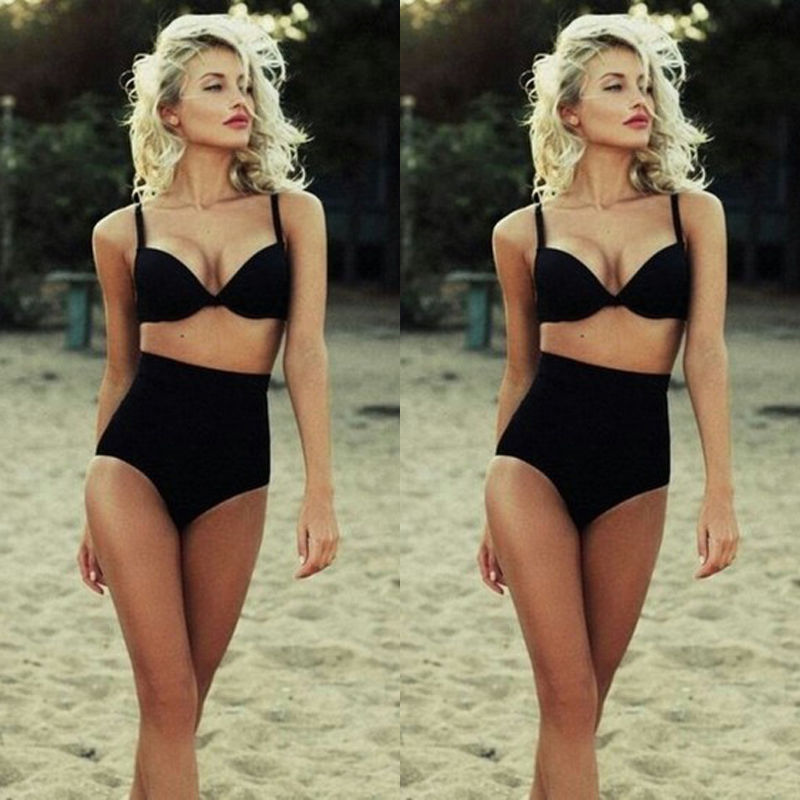 2017 New Hot Sale Sexy Women High Waist Half Cup Bikini Set Swimsuit Ladies Push-up Bra Beachwear цены