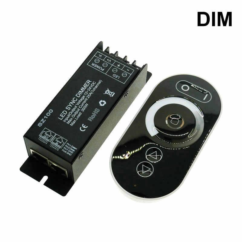 Сенсорный светодиодный RGB Управление; RF Беспроводной дистанционного Управление RGB/CT/DIM DC12-24V светодиодный Управление; диммер для Светодиодный лента для светодиодной ленты