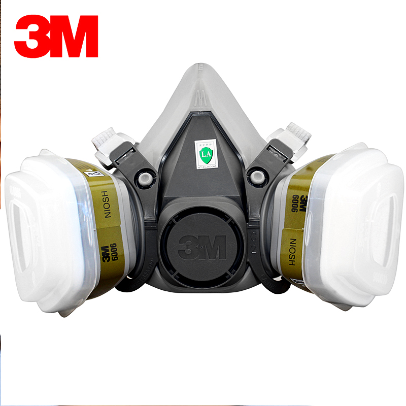 3M 6200+6006 Half Face Mask Respirator Renovated Laboratory Formaldehyde Gas Masks NIOSH&LA Satandards Protective Mask R82027