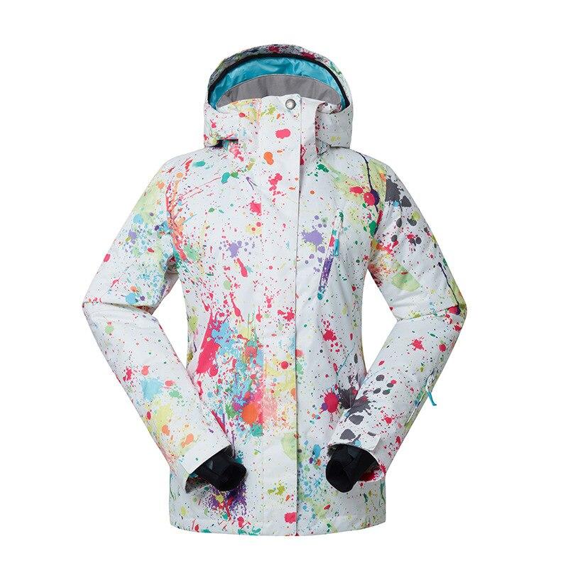 GSOU neige dame hiver Ski costume coupe-vent imperméable respirant chaud veste de Ski neige vêtements pour les femmes taille XS-XL - 6