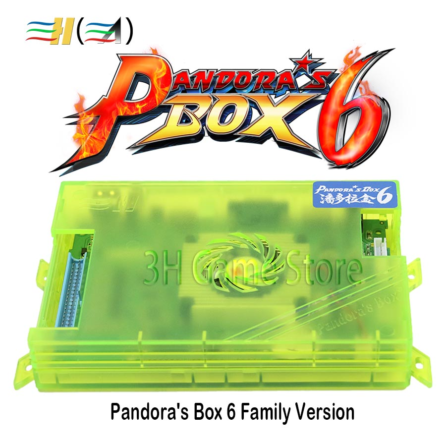 все цены на New Pandora Box 6 1300 in 1 family version Motherboard can add 3000 games support FBA MAME PS1 game For Pandora's Box console онлайн
