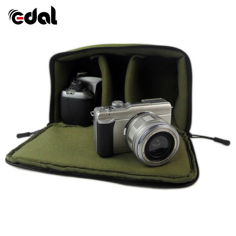 Portable SLR Camera Insert Bag Inner Partition Padded Protector Bag For DSLR SLR Black Insert Case Waterproof Zipper Camera Bag