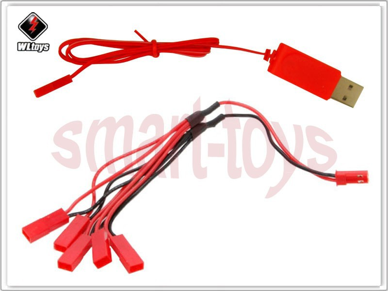 Yoton Accessories Wholesale WL Red JST USB Battery Charger Cable Connector Spare Parts for V959 V818 X54HC X54HW Male Female Color: 100 pcs
