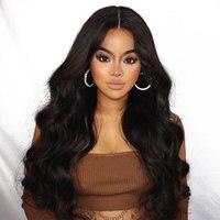 250% Плотность 13x6 синтетические волосы на кружеве человеческие волосы Искусственные парики для женщин с ребенком волос бразильский