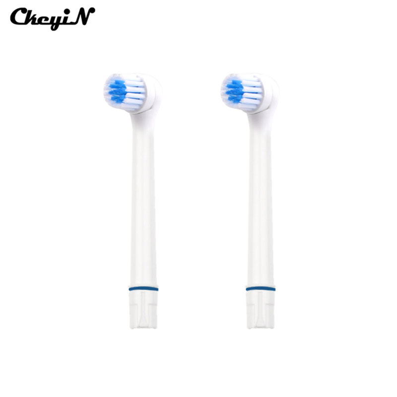 2pcs/set Oral Hygiene Rotary Electric Toothbrush Heads Replacement for Blue white Oral Soft Bristles Tooth brush heads Cleaner 1pack eb 25a model replacement electric toothbrush head eb25 cleaning tool fit for braun oral b tooth brush heads