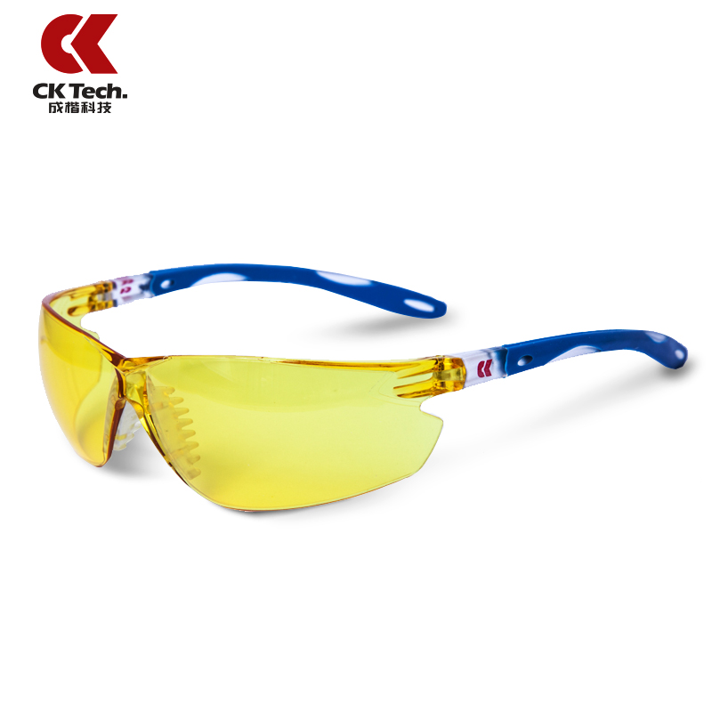 CK Tech Brand New Night Vision Safety Glasses Yellow Brightens Work Exercise Protective Airsoft Goggles Anti-UV Glasses 2019 ck tech brand outdoor sports bicycle bike riding cycling eyewear sunglasses safety glasses airsoft goggles uv protective 053rm