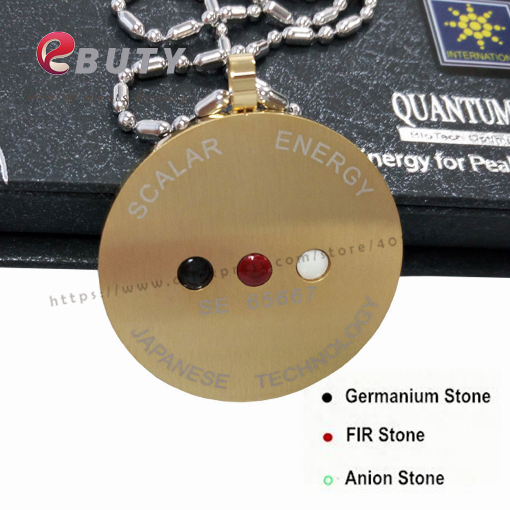 Ebuty gold stainless steel quantum scalar energy pendant with far ebuty gold stainless steel quantum scalar energy pendant with far infrared negative ion germanium stones free shipping in pendants from jewelry aloadofball Image collections
