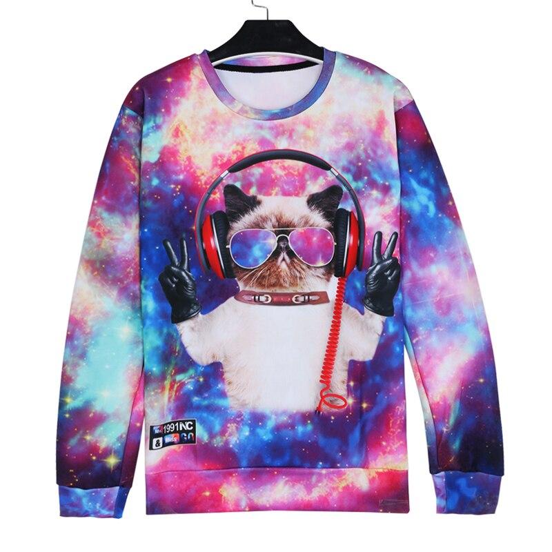 048f4b24c Alisister 2019 New Fashion Men/women's Unicorn Cat Hoodie Winter/autumn 3d  Galaxy Sweatshirts Clothes Harajuku Animal Sweatshirt-in Hoodies &  Sweatshirts ...
