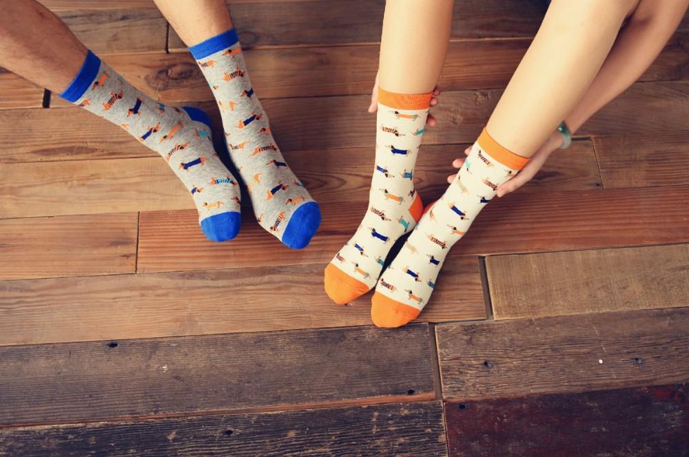 Sokid taksikoerte piltidega
