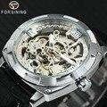 FORSINING Top Marke Luxus Automatische Uhren Männer Skeleton Mechanische Uhr Geschnitzt Tonneau Zifferblatt Lederband Armbanduhren 2019-in Mechanische Uhren aus Uhren bei