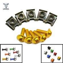 Tornillos de carenado para accesorios de motocicleta para Ducati 996B 996S 996R 998B 998S 998R 999S 999R 5 piezas tornillos de carenado de 6mm