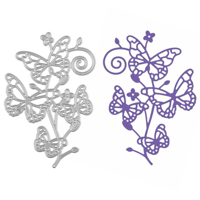 Four Butteryfly Flower Metal Cutting Dies Stencil For DIY Scrapbooking Photo Album Embossing Folder Paper Card