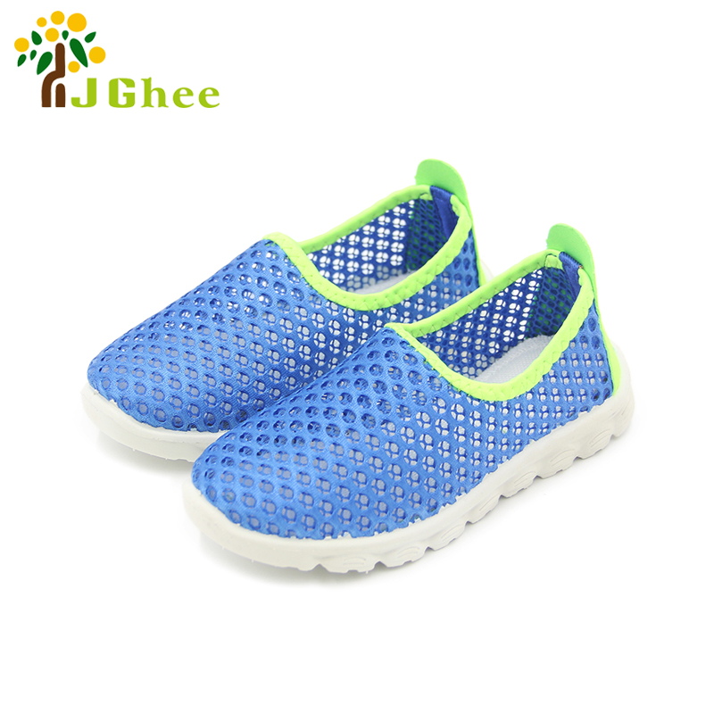 J Ghee 2017 Summer Fashion Kids Shoes Cut outs Air Mesh Breathable Shoes For Boys Girls