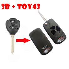 For Toyota Flip Key Shell Conversion Kit 3 Buttons