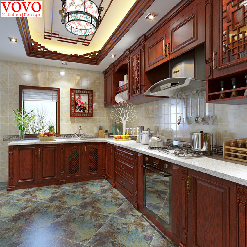 Rosewood kitchen furniture-in Kitchen Cabinets from Home Improvement ...