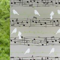 90*200 cm Adesivo Espessamento Janelas Cole Notação Musical Etiqueta De Papel de Papel cut-Janela Fosco Filme De Vidro Banheiro casa de banho