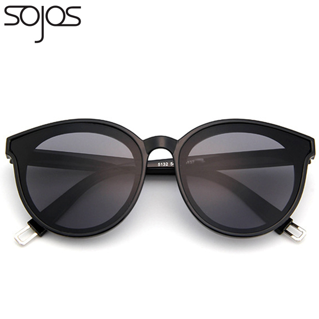 c0ae91e711b SOJOS Polarized Fashion Round Sunglasses For Women Men Mirrored Lens Metal  Frame Brand Designer Sun Glasses Eyewear UV400 SJ2057