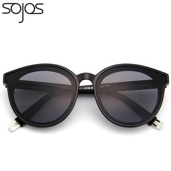 66348d9f2f SOJOS polarizado redondo de moda gafas de sol para los hombres y las mujeres  con espejo lente de marco de Metal, diseñador de marca, gafas de sol, gafas  de ...