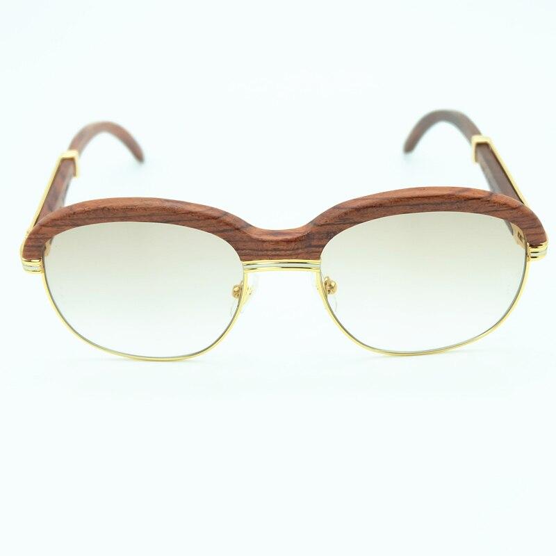 Holz Sonnenbrille Rahmen Holz Sonnenbrille Männer Rosa Sonnenbrille für Herren Fashion Shades Sonnenbrille Frauen Urlaub Zubehör