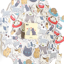 45pcs/box Lovely Cat Diary Decoration Mini Stickers DIY Scarpbooking Sticker Stationery