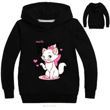 3-16Years Marie Cat Clothes Long Sleeves Hoodies for Girl Aristocats Sweatshirt Cute Baby Bomber Bobo Jacket