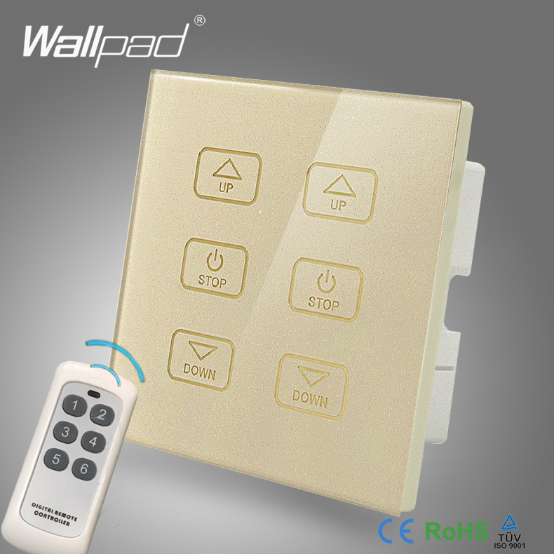 110V-250V LED Remote Dimmer Switch Wallpad GOLD Glass Panel 6 Buttons Wireless Remote Control 2 Lamps Dimmer Radio Light Switch high quality table lamp full range dimmer gold tone rotary switch 2 wire connector