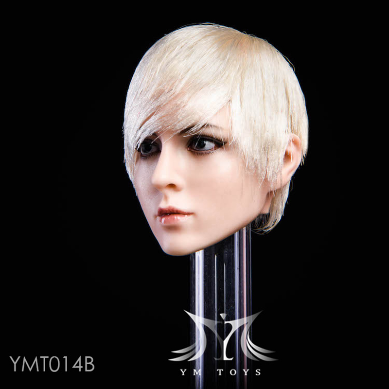 YMTOYS 1 6 female action figure doll head carving YMT016 Min planting mixed blood beautyale head sculpt for pale Female Body in Action Toy Figures from Toys Hobbies