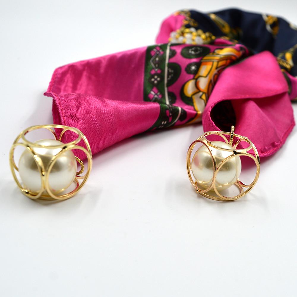 Pearl Pendant Necktie Scarf   Jewelry Scarf