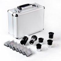 1.25 Inch Telescope Eyepiece and Filter Set Telescope Accessory Kit (Silver) 5pcs Plossl Eyepiece Set, 7pcs Filter Set, 2X